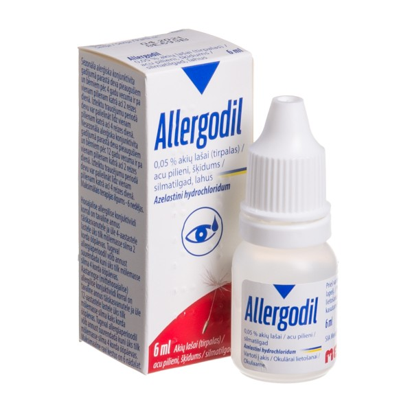ALLERGODIL EYE DROPS bottle 6ML 0.05%