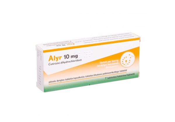 ALYR, 10 mg, covered tablets, N7
