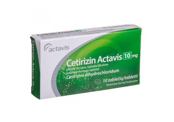 Cetirizin Actavis 10 mg Tablets N10