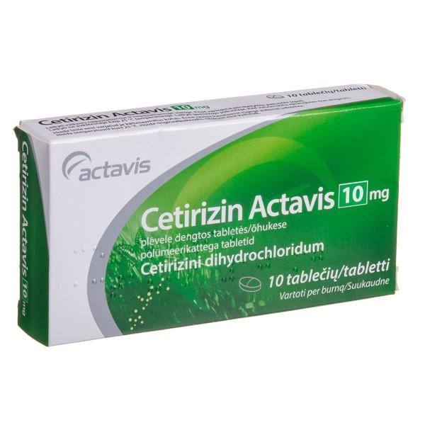Cetirizin Actavis 10mg tablets N10