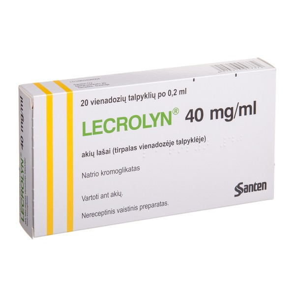 LECROLYN, 40 mg/ml, eye drops, 0,2 ml, N20