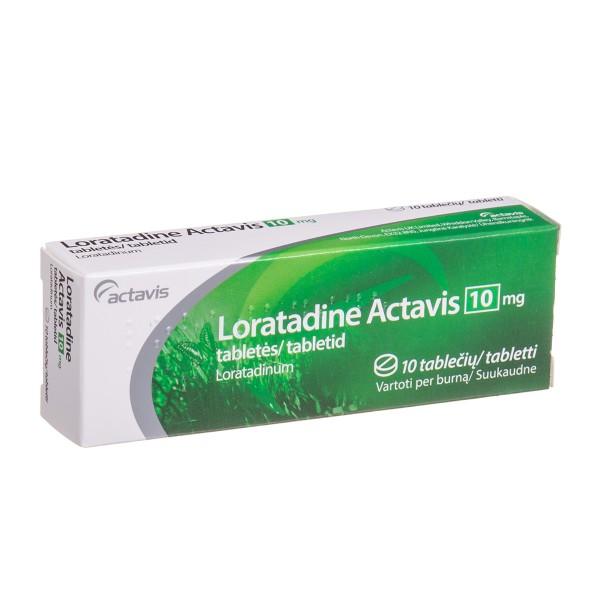 LORATADINE ACTAVIS, 10 mg, Tablets, N10