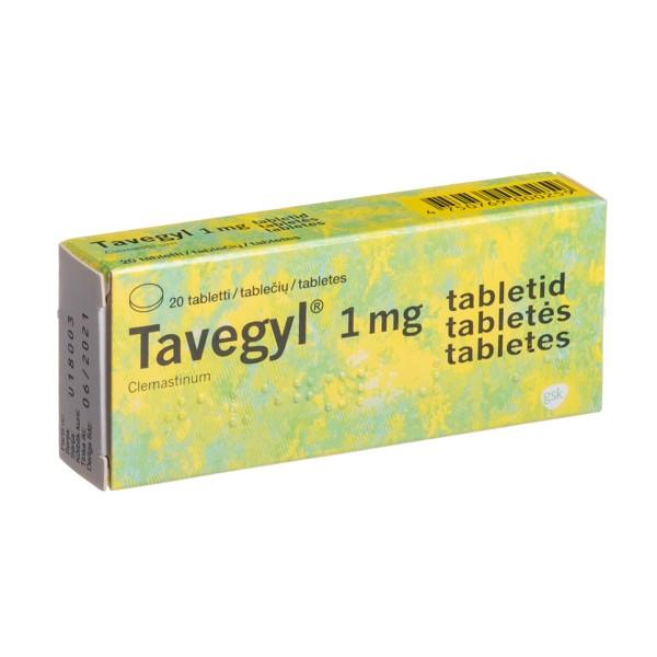 Tavegyl (Clemastine) 1 mg Tablets, N20