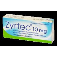 Zyrtec (Cetirizine Hydrochloride) 10 mg Tablets, N10